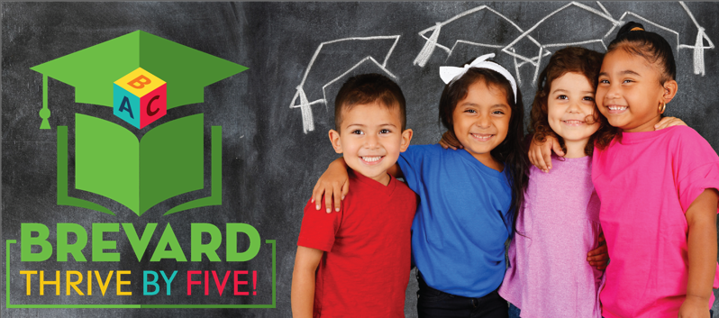 Brevard Public School logo for the Thrive by Five initiative.