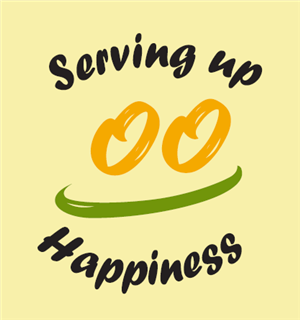 Serving Up Happiness Daily Logo