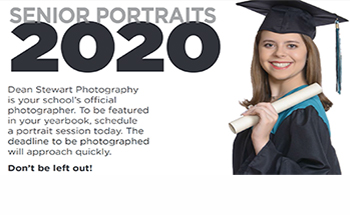 2020 Senior Portraits Booking Flyer