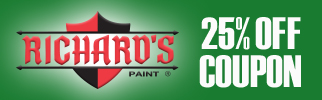 Richards Paint save 25 percent