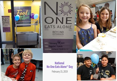 c85bd61a701 Holland Hornets showed kindness to their peers by observing National No One  Eats Alone Day on