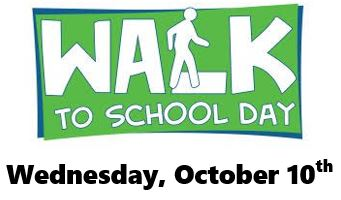 Walk-to-School Day October 10th