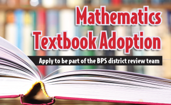 Mathematics Textbook Adoption, apply to be part of the process