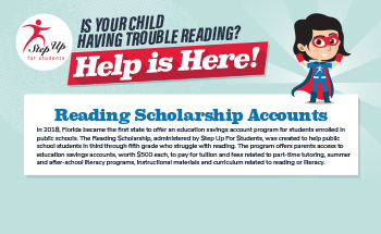 Step Up For Students Reading Scholarship Opportunity