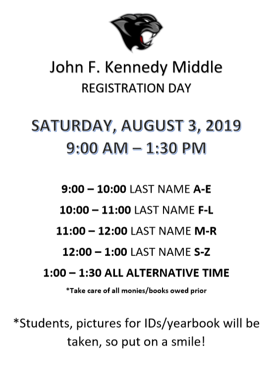 KMS Registration Information 2019-2020