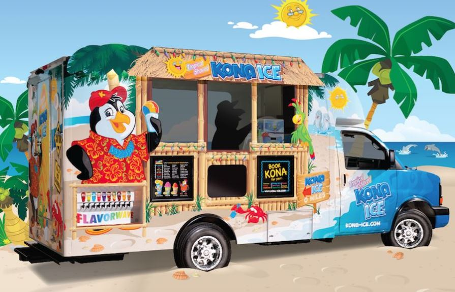 Kona Ice at McAuliffe Aug. 7th 10-2