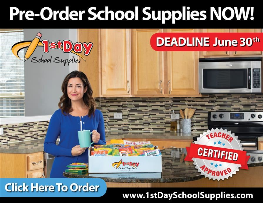 Order 1st day school supplies