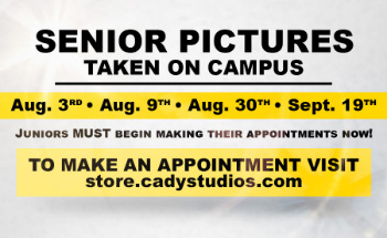 Class of 2020 - Make an appointment for your senior pictures today!