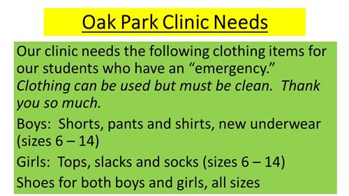 Clinic Clothing Needs