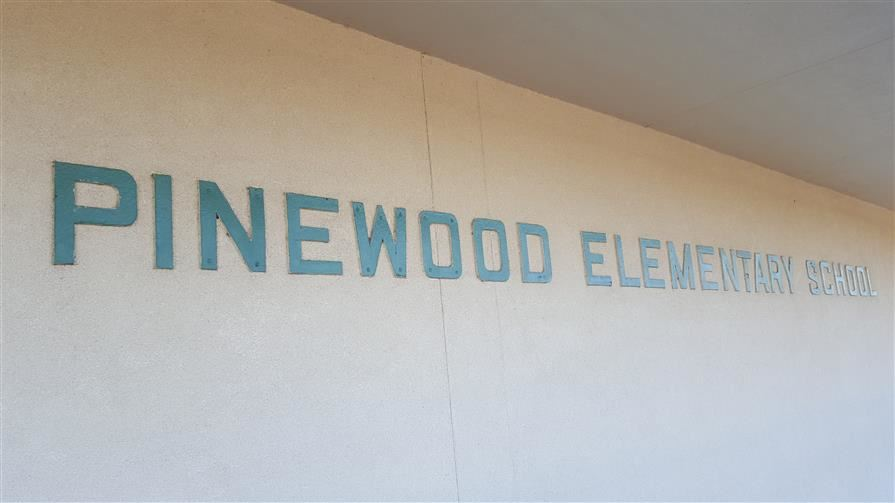 Picture saying pinewood students like to read
