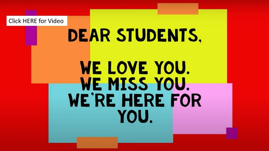 Students, We Love You!
