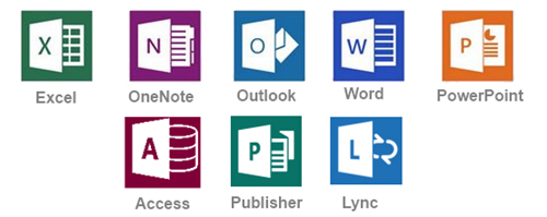 Picture of the Office 365 apps