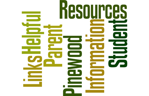 Picture that says links helpful parent pinewood resources information student