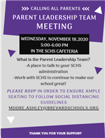 Parent Leadership Team Meeting