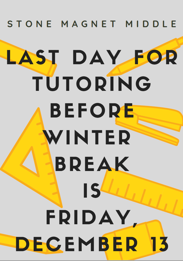 Last Day for Tutoring