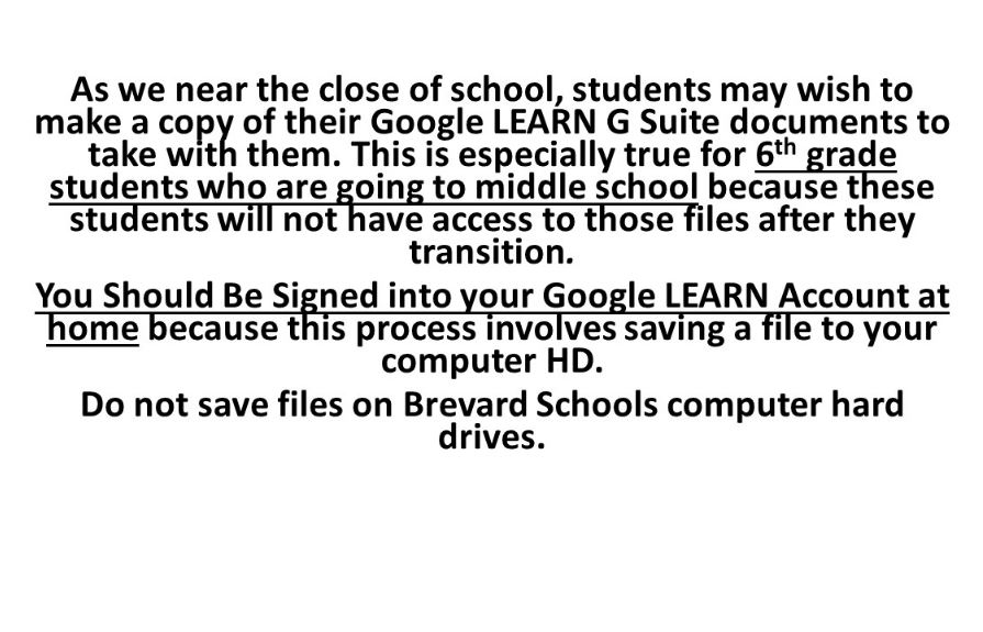 Take Your Google Docs With You (especially 6th Grade)