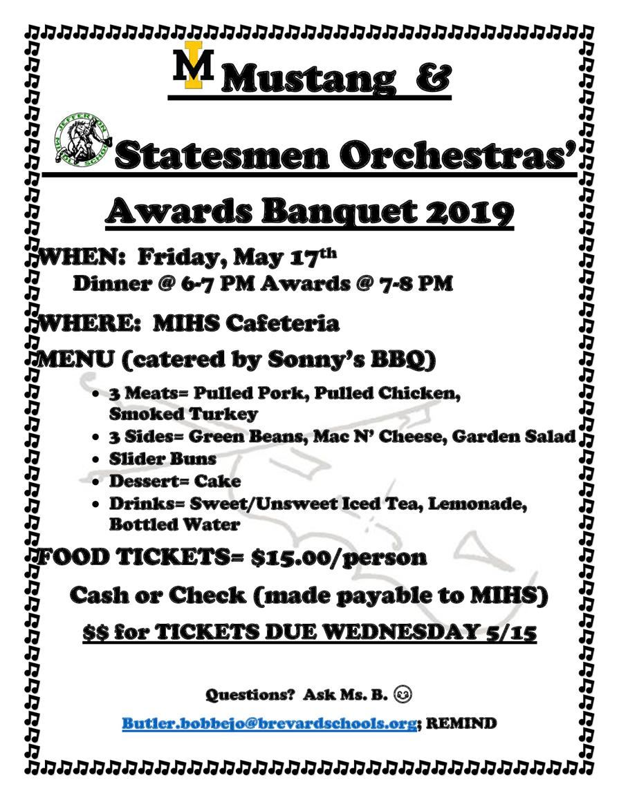 Orchestra Awards Banquet Flyer