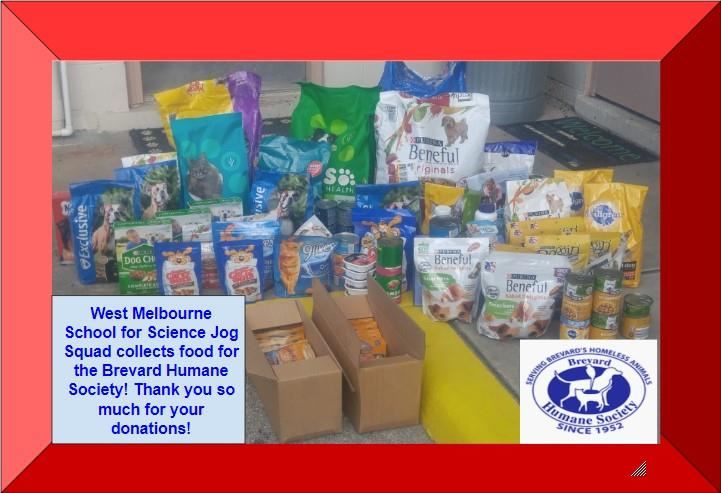 WMSS Collects Food for the Brevard Humane Society!