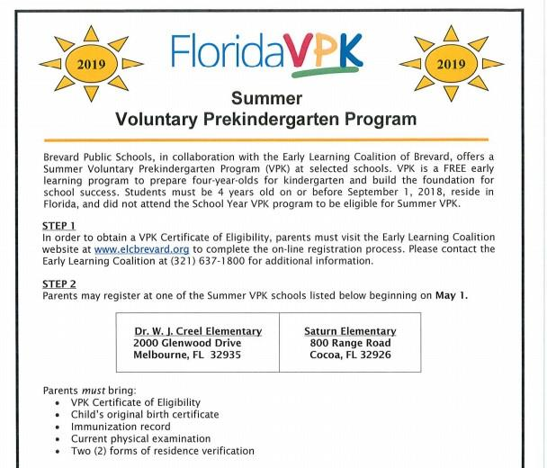 Click Here for 2019 VPK Information