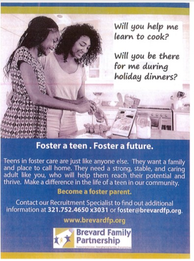 Foster A Teen Program Flyer