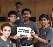WMSS Mission To Mars Team Takes Triple Honors! Click here for details!