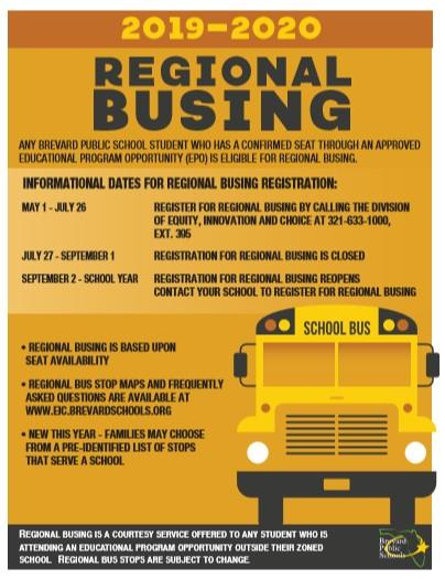 Regional Busing Information Flyer
