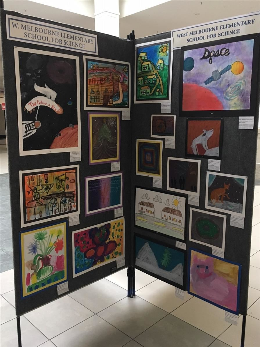 WMSS Stellar Student  Art Work on display at Melbourne Mall! Click for Story!