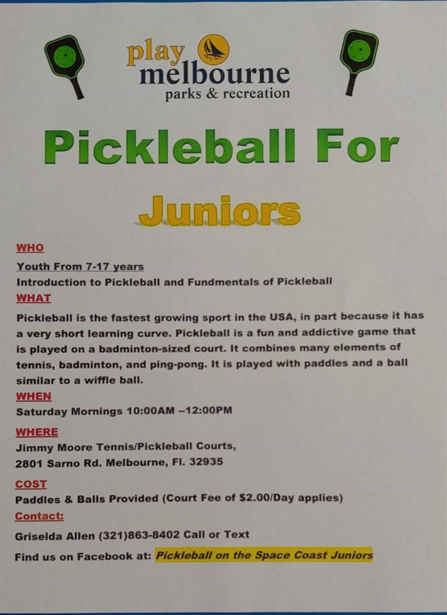 Summer Pickle Ball-Click for Details