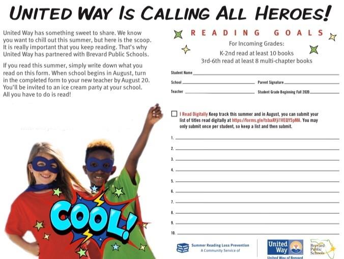 UNITED WAY SUMMER READING CHALLENGE-Click Here!