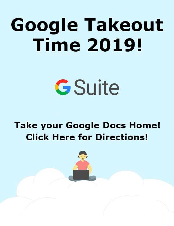 It's Google Take Out Time!