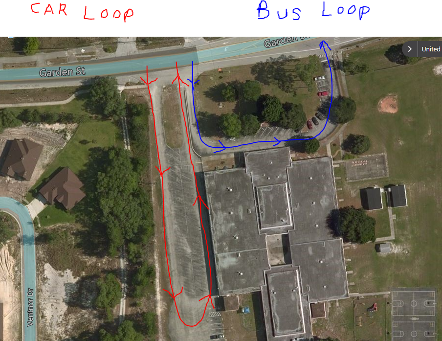 Car and Bus Loop Map