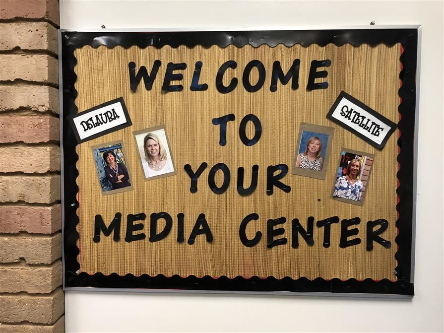 Media Center Welcome Bulletin Board