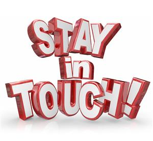 Stay in touch sign