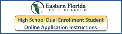 Dual Enrollment Student Online Application Instructions