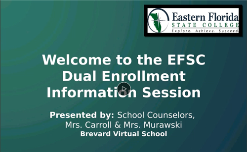 Recording of Online Dual Enrollment Information Session